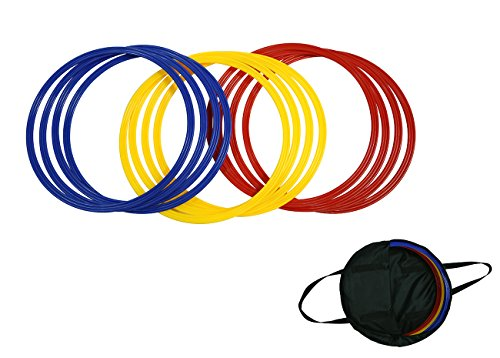 Trademark Innovations Speed & Agility Training Rings – Set of 12 – 16″ Dia ...