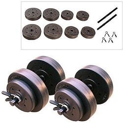 TrustyTrade New Golds Gym 40 Lb Vinyl Dumbbell Set Weight Dumbbells Hand Weights Adjustable