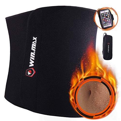 WIN.MAX Waist Trimmer Belt,Waist Trainer for Women,Weight Loss and Sweat Wrap,Slimmer Kit for Me ...
