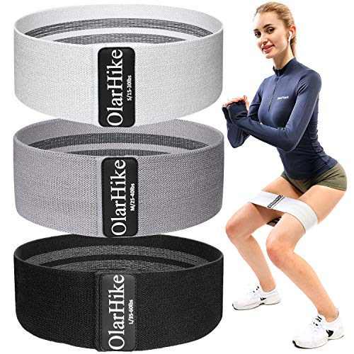 OlarHike Resistance Bands Booty Bands Set for Butt Legs Glutes, Non Slip Exercise Fabric Hip Ban ...