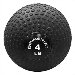 GYMENIST Weighted No Bounce Slam Ball Intensive Workout Training Gym Exercise Weight Balls Equip ...