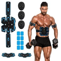JoJoMooN Abs Stimulator Muscle Toner, Abs Trainer Muscle Trainer Ultimate Abdominal Toning Belt  ...
