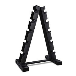 Akyen A-Frame Dumbbell Rack Stand Only-5 Tier Weight Rack for Dumbbells (Weight Capacity of 570  ...