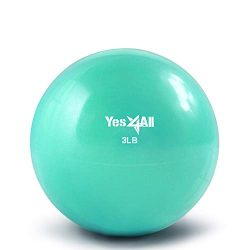 Yes4All Soft Weighted Toning Ball/Medicine Ball & Exercise Pilates Ring – Multi Colors ...