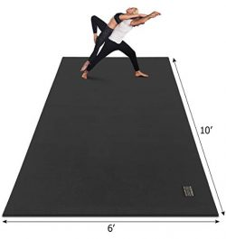 Gxmmat Extra Large Yoga Mat 10'x6'x7mm, Thick Workout Mats for Home Gym Flooring, No ...
