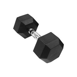 Goddesslili Dumbbells, 5-50 Pounds Hex Rubber Weights Workout Dumbbells Set Metal Ergonomic Hand ...