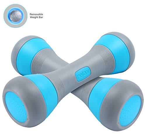 Nice C Adjustable Dumbbell Weight Pair, 5-in-1 Weight Options, Non-Slip Neoprene Hand, All-Purpo ...