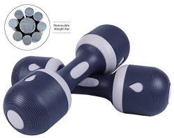 Nice C Adjustable Dumbbell Weight Pair, 5-in-1 Weight Options, Non-Slip Neoprene Hand, All-Purpo ...