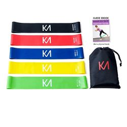 EZKAMI Resistance Bands, Exercise Bands for Booty, Crossfit, Stretching, Strength Training, Phys ...