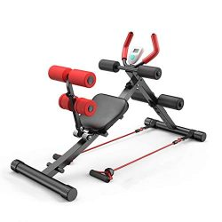 Micozy 2 In 1 Abdominal Crunch Machine Sit Up Bench Core Abdominal Trainer Workout Gym for Leg,  ...