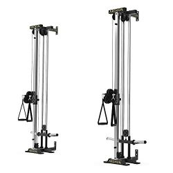 ARCHON Wall Mount Crossover Dual Cable Commercial Ball Bearing Cable Station | 17 Position Adjus ...