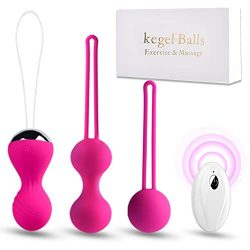 kegel Balls Exercise Weights for Women Tightening-Ben wa Balls for Beginners & Advanced Pelv ...
