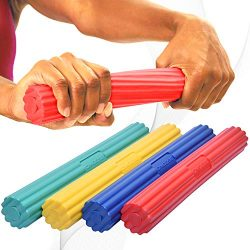 DMoose Fitness Flex Tennis Elbow Bar & Hand Forearm Strengthener for Golfer's, Athlete ...