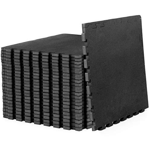 "ProsourceFit Extra Thick Puzzle Exercise Mat ¾"", EVA Foam Interlocking Tiles for Protectiv ..."
