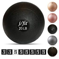 j/fit Dead Weight Slam Ball for Strength & Conditioning WODs, Plyometric and Core Training,  ...