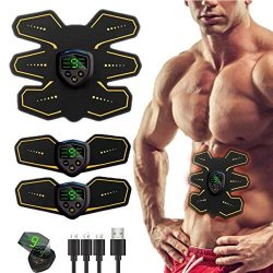 UMATE ABS Stimulator Muscle Toner, Abdominal Toning Belt Portable Muscle Trainer Body Muscle Fit ...