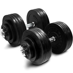 Yes4All Adjustable Dumbbells – 200 lb Dumbbell Weights (Pair)