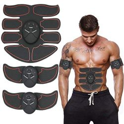 SUNEN Muscle Toner, Abdominal Toning Belt EMS ABS Toner Body Muscle Trainer Wireless Portable Un ...