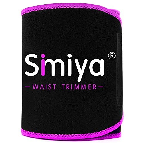 SIMIYA Waist Trimmer for Women and Men, Stomach Wraps for Weight Loss, Neoprene Waist Trainer Sl ...
