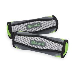 Gaiam Hand Weights for Women & Men Soft Dumbbell Walking Hand Weight Sets with Hand Strap &# ...