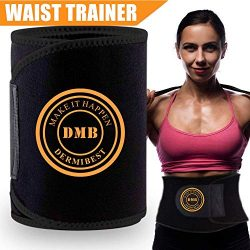 DERMIBEST Waist Trimmer for Women&Men Weight Loss Slimmer Kit Ab Belt-Sweat Waist Trainer St ...