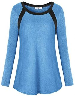 Bobolink 2X Workout Tops Women, Yoga Shirts Loose Fit Long Sleeve Cozy Running Pilates Exercise  ...