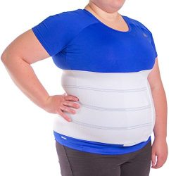 BraceAbility 4XL Plus Size Bariatric Abdominal Stomach Binder | Obesity Girdle Belt for Big Men  ...